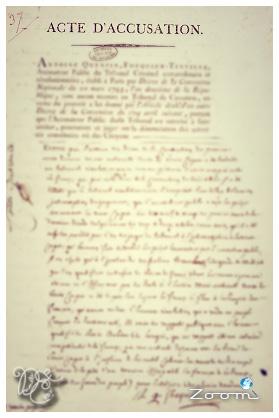 Acte d'accusation de Marie-Antoinette