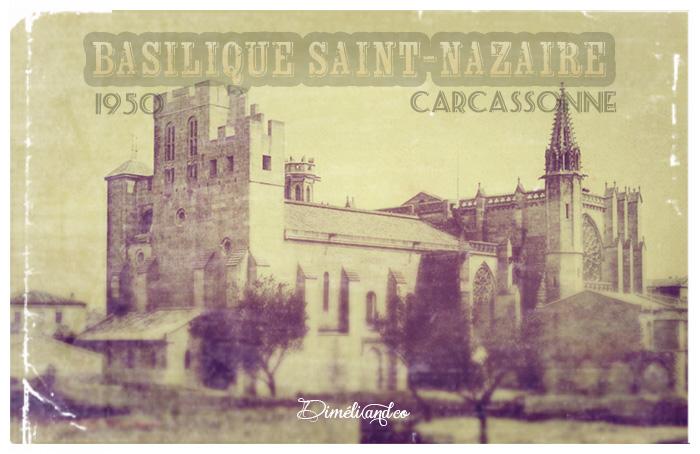 Basilique Saint-Nazaire en 1950