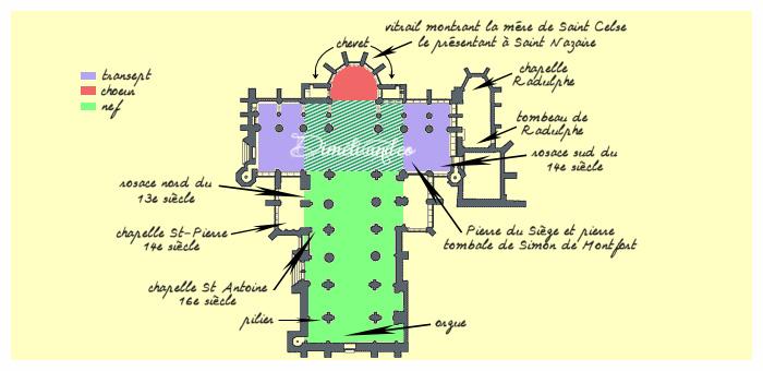 Plan de la Basilique Saint-Nazaire