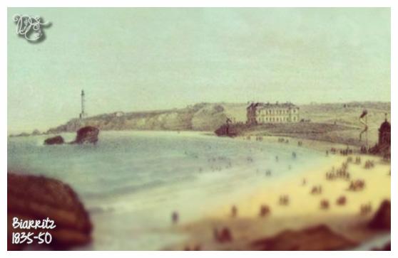 Biarritz en 1835-1850