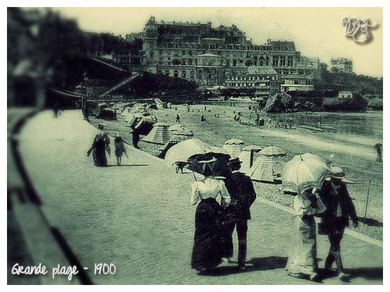 Grande Plage en 1900
