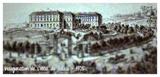 Inauguration de l'Hôtel du Palais