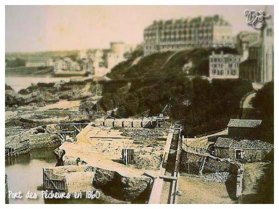 Port des Pêcheurs en 1860