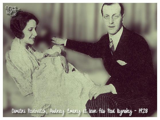 Dimitri Pavlovitch et Audrey Emery avec Paul Ilynsky en 1928