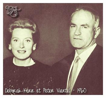 Peter Viertel et Deborah Kerr en 1960