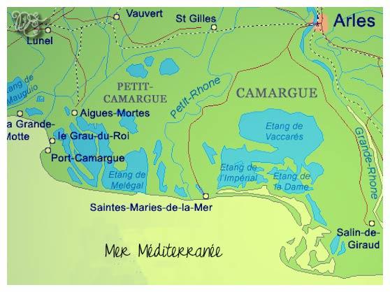Carte de la Camargue