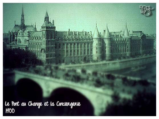 Pont au Change et Conciergerie en 1900