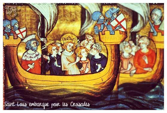 Saint Louis embarque pour les croisades
