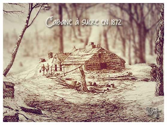 Cabane à sucre en 1872