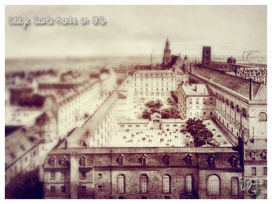 Collège Sainte Barbe en 1876