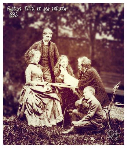 Gustave Eiffel et ses enfants