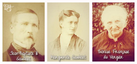 Marguerite Gaudelet et ses parents