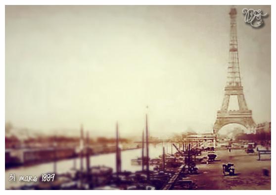 Tour Eiffel 31 mars 1889