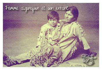 Femme algonquin et son enfant