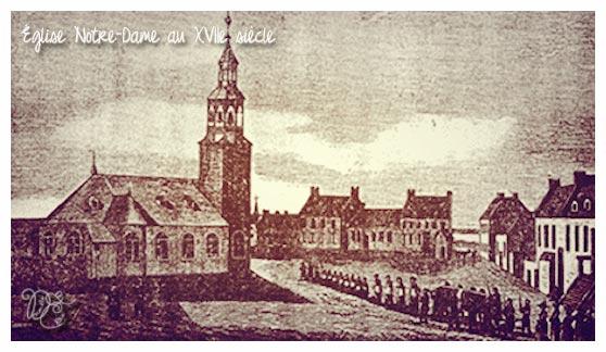 Église Notre-Dame en 1600, Montréal