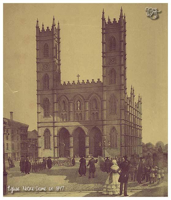 Notre-Dame en 1847, Montréal