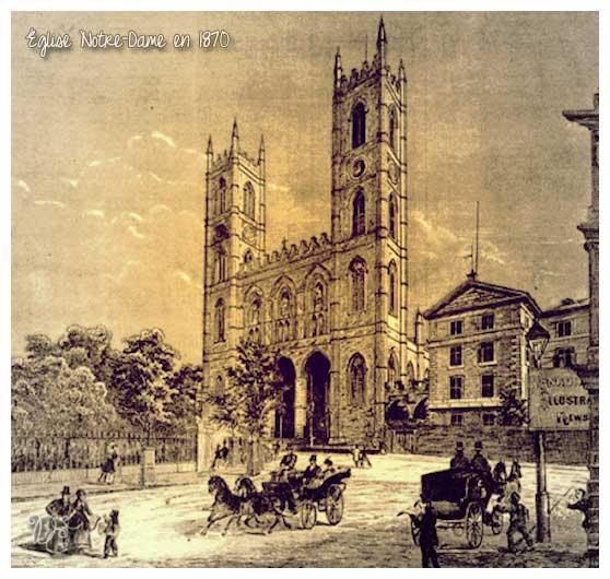 Notre-Dame en 1870, Montréal