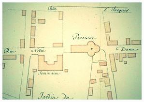 Plan de la première église Notre-Dame, Montréal