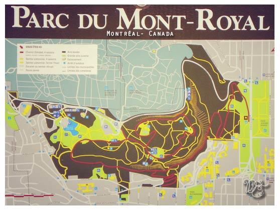 Plan du parc Mont-Royal, Montréal