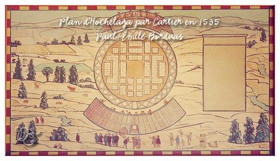 Plan d'Hochelaga par Cartier en 1535 par Paul-Émile Borduas