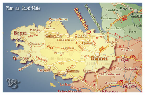 Plan de Saint-Malo