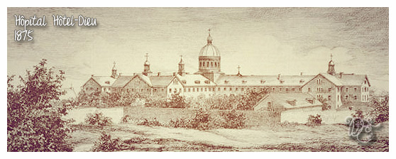 Hôpital Hôtel-Dieu en 1875, Montréal