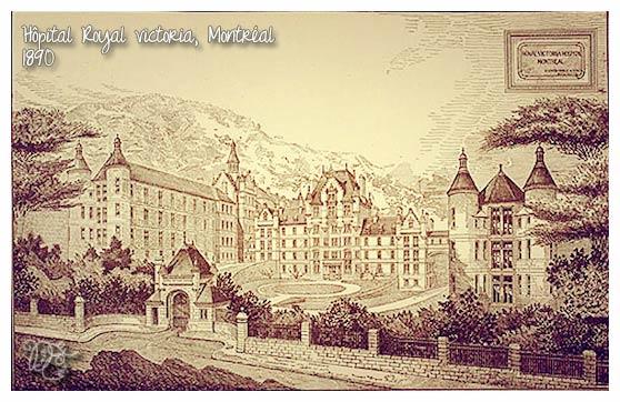Hôpital Royal Victoria en 1890, Montréal