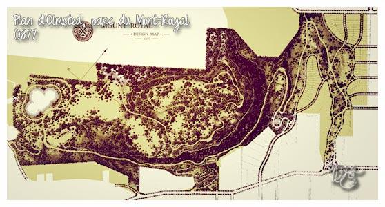 plan du parc du Mont-Royal de 1877, Montréal