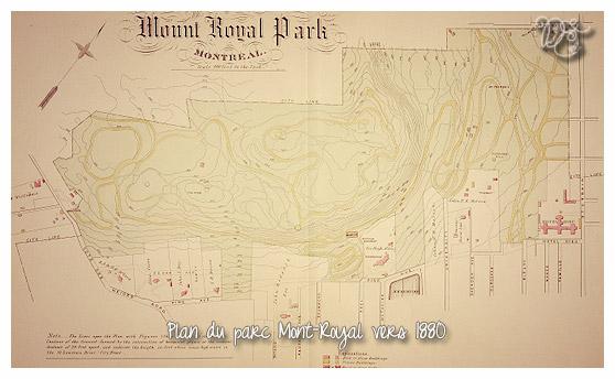 Plan du parc Mont-Royal vers 1880, Montréal