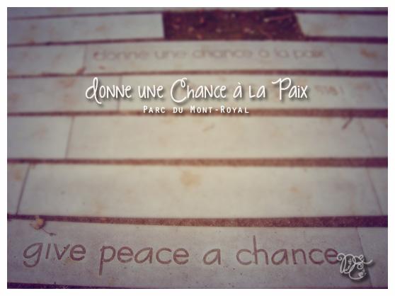 Donne une chance à la paix, Montréal