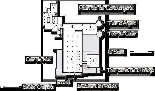 Plan de la Conciergerie
