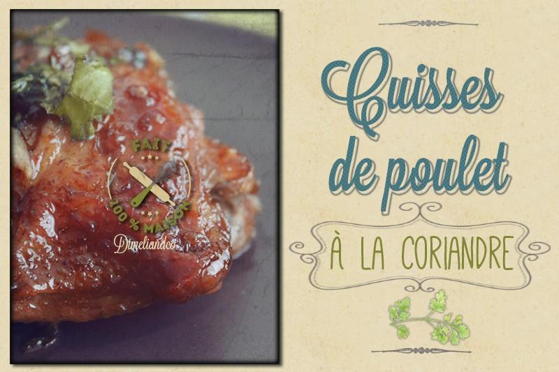 Cuisses de poulet à la coriandre